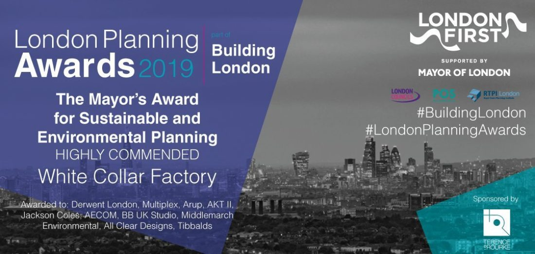 White Collar Factory highly commended in London Planning awards image
