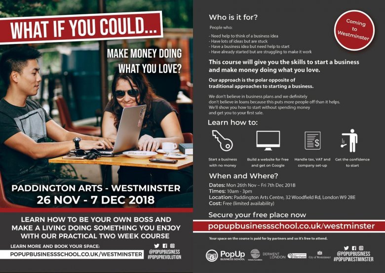 Derwent London supports Westminster Pop-up Business School