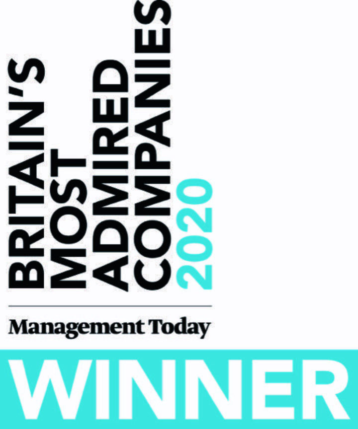 Top 10 Winner of Britain's Most Admired Companies 2020