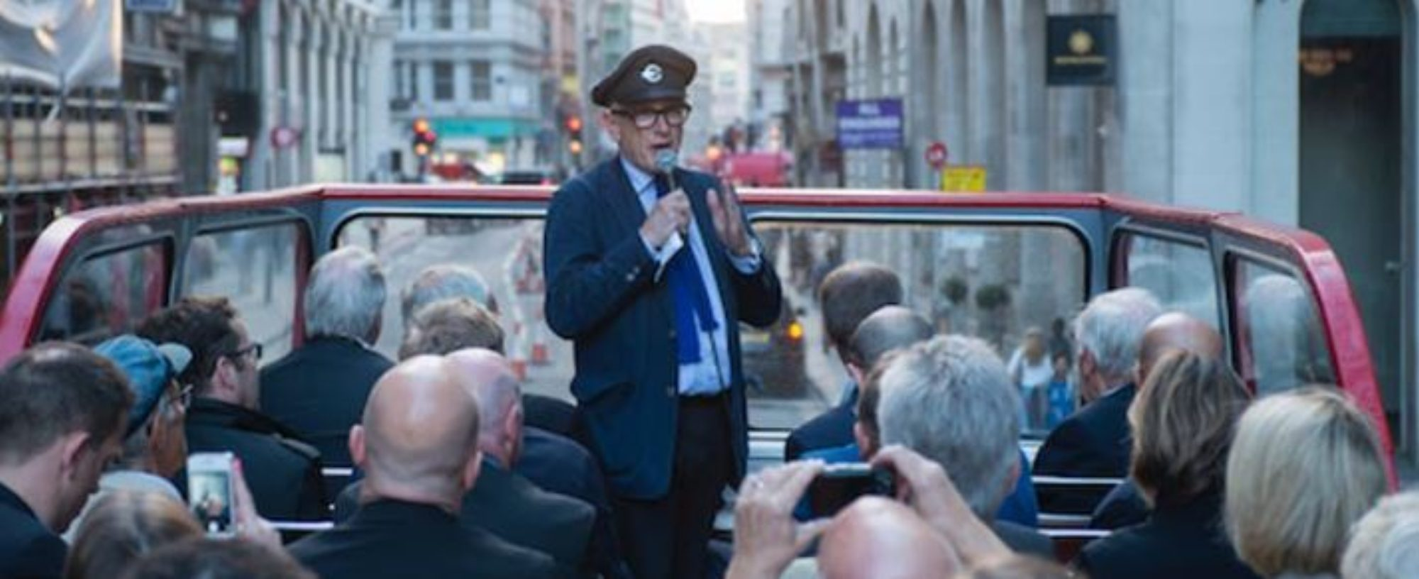 Matt Massey - tour guide on Peter Hendy's Routemaster trip