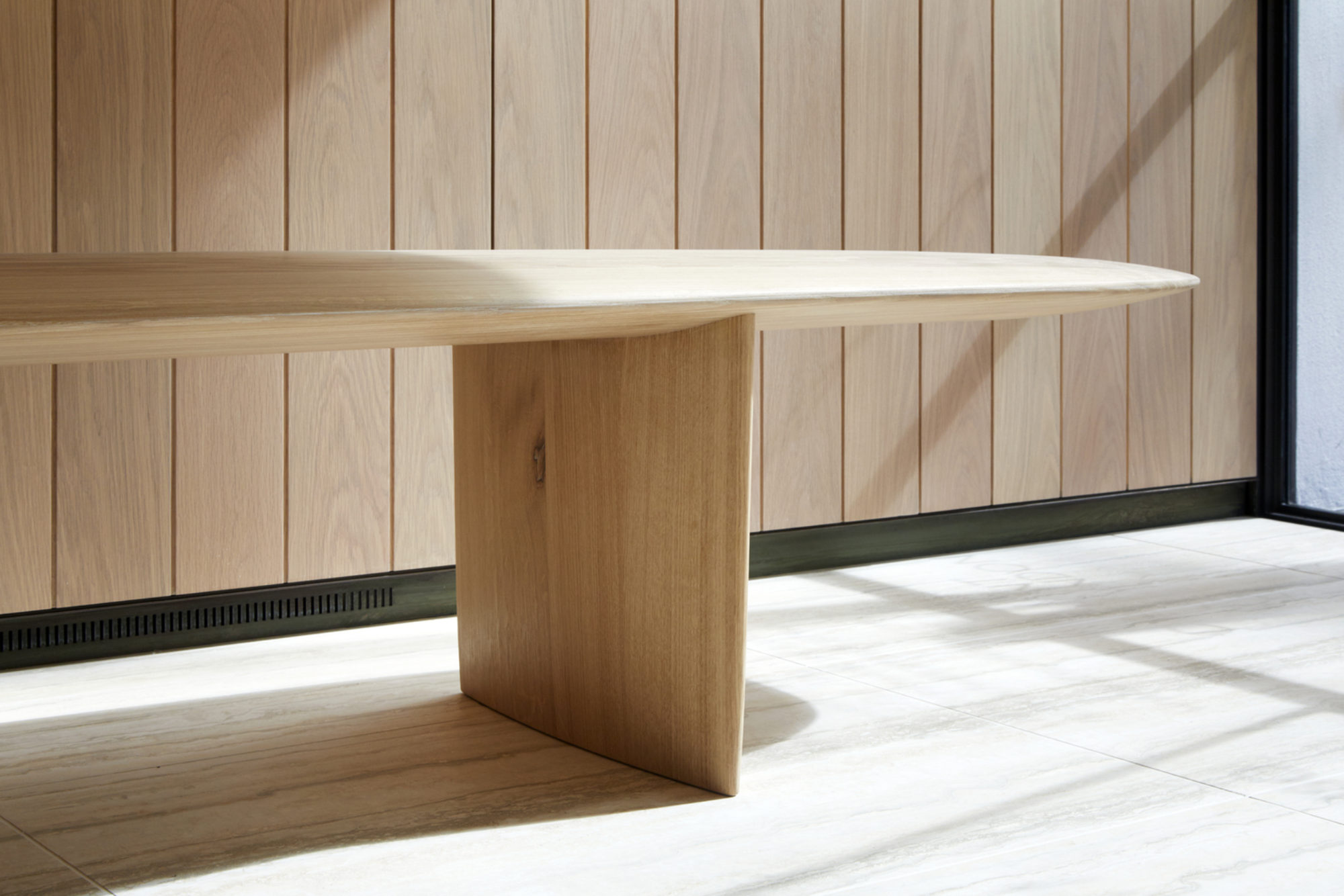 Ian McChesney bench at Savile Row wins Production category in Wood Awards 2019