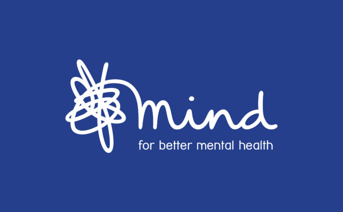 "Logo for Mind with the caption ""for better mental health"""